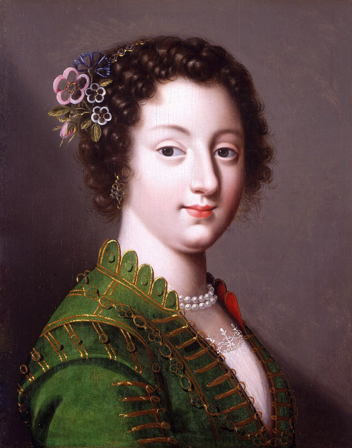 Claude Deruet (1588 – 1660) A Young French Noblewoman, circa 1625 - 1630 Oil on panel 13 ¼ x 10 ½ in (31.5 x 25.3 cm.)