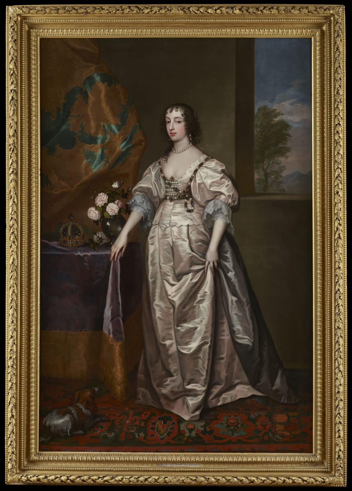After Sir Anthony van Dyck (1599 – 1641) Queen Henrietta Maria (1609 - 1669), circa 1660s Oil on canvas 86 x 56 in. (223 x 149 cm.)