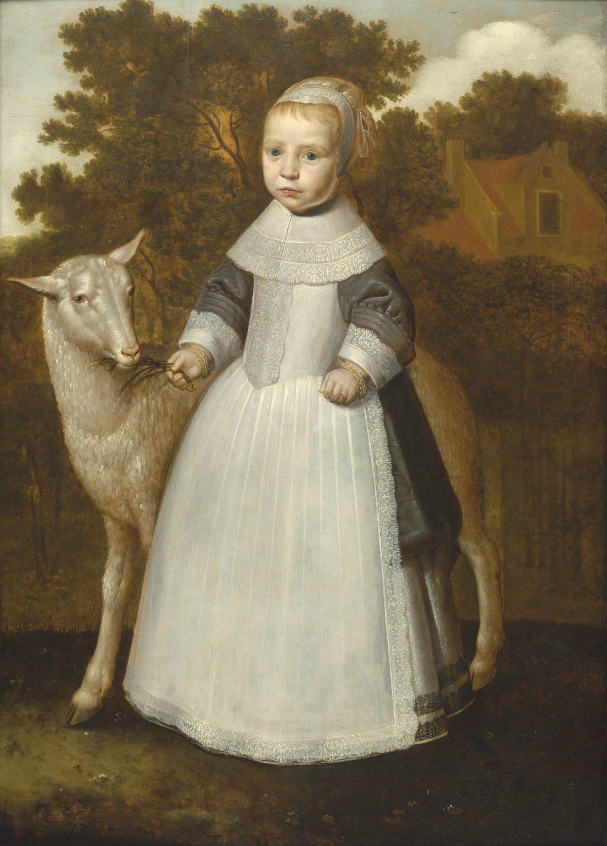 Dirck Dircksz. Santvoort (c. 1610 – 1680) An Unknown Young Girl with a Lamb , circa 1640 Oil on panel 42 ½ x 30 ¾ in. (108.2 x 78.3 cm.)