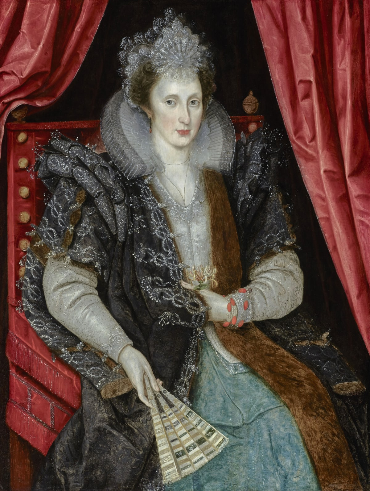 Circle of Marcus Gheeraerts the Younger (1561 – 1635) Lady Mary Neville, née Sackville (1584 – c.1613), c.1610 Oil on panel 44 ½ x 33 ¾ in. (113.3 x 86 cm.)