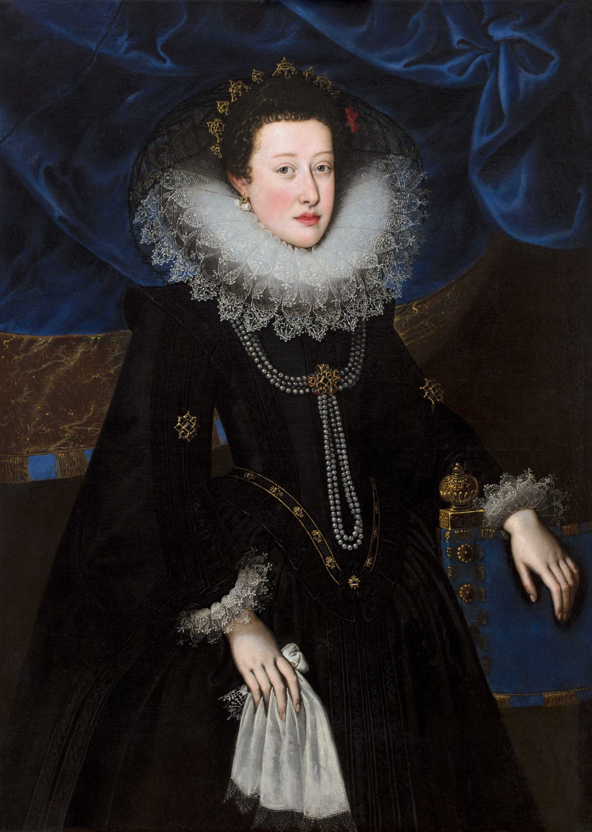 Frans Pourbus the Younger (1569 - 1622) An Unknown Spanish Noblewoman , 1603 - 1604 Oil on canvas 45 ¼ x 32 3/8 in. (115 x 82.2 cm.)