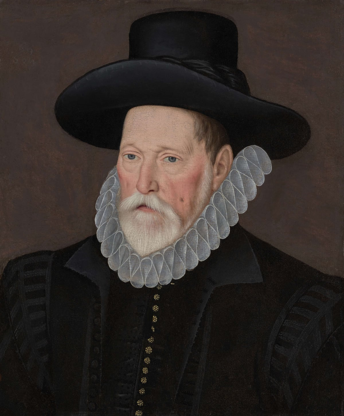 Unknown Follower of Custodis (fl. 1592 – 1612) An Unknown Gentleman , circa 1590s Oil on panel 22 3/8 x 18 ¾ in. (56.8 x 47.6 cm.)