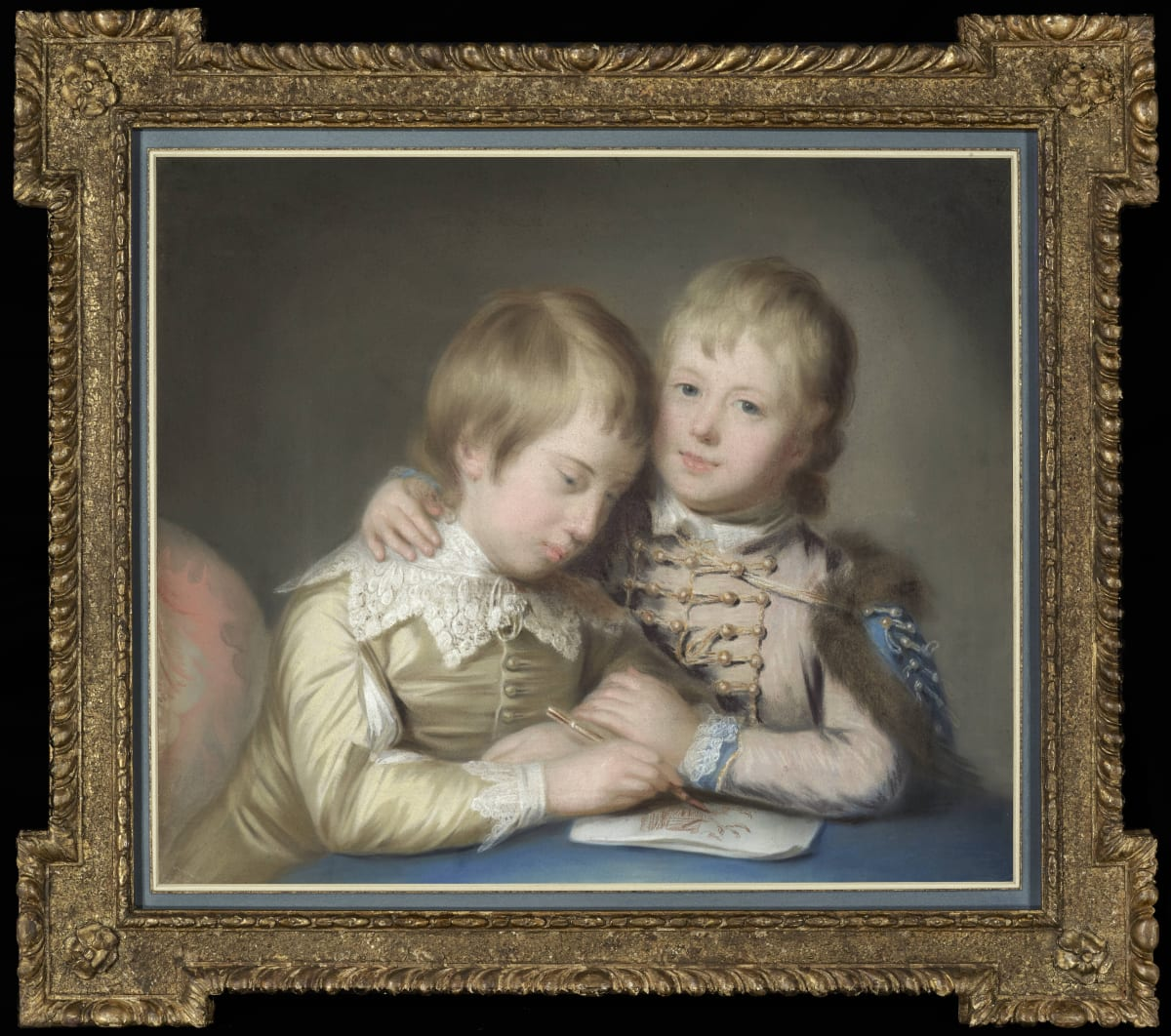 Katherine Read (1723 - 1778) George, later 2nd Marquess Townshend (1753 – 1811), and Lord John Townshend (1757 – 1833), as boys, circa 1764 Pastel on paper, laid on canvas 23 5/8 x 27 ½ in. (60 x 70 cm.)