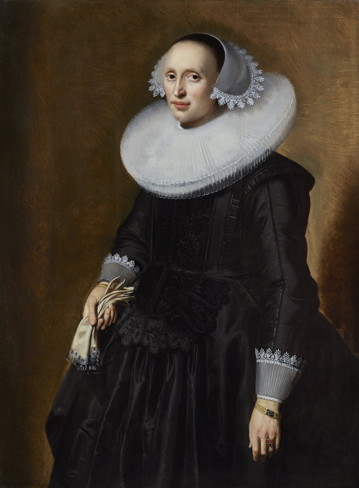 Jan Daemen Cool (c. 1589 – 1660) An Unknown Lady, circa 1630s Oil on panel 45 ⅛ x 35 ⅝ in. (114.7 x 85.4 cm.)