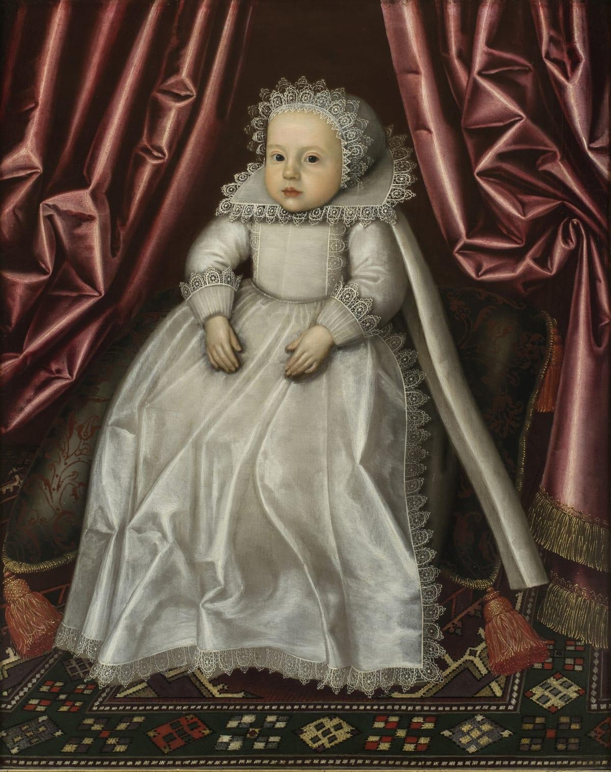William Larkin (c.1585 – 1619) A Noble Baby, c.1615 Oil on panel 35 ½ × 28 in. (90.1 × 71.1 cm.)