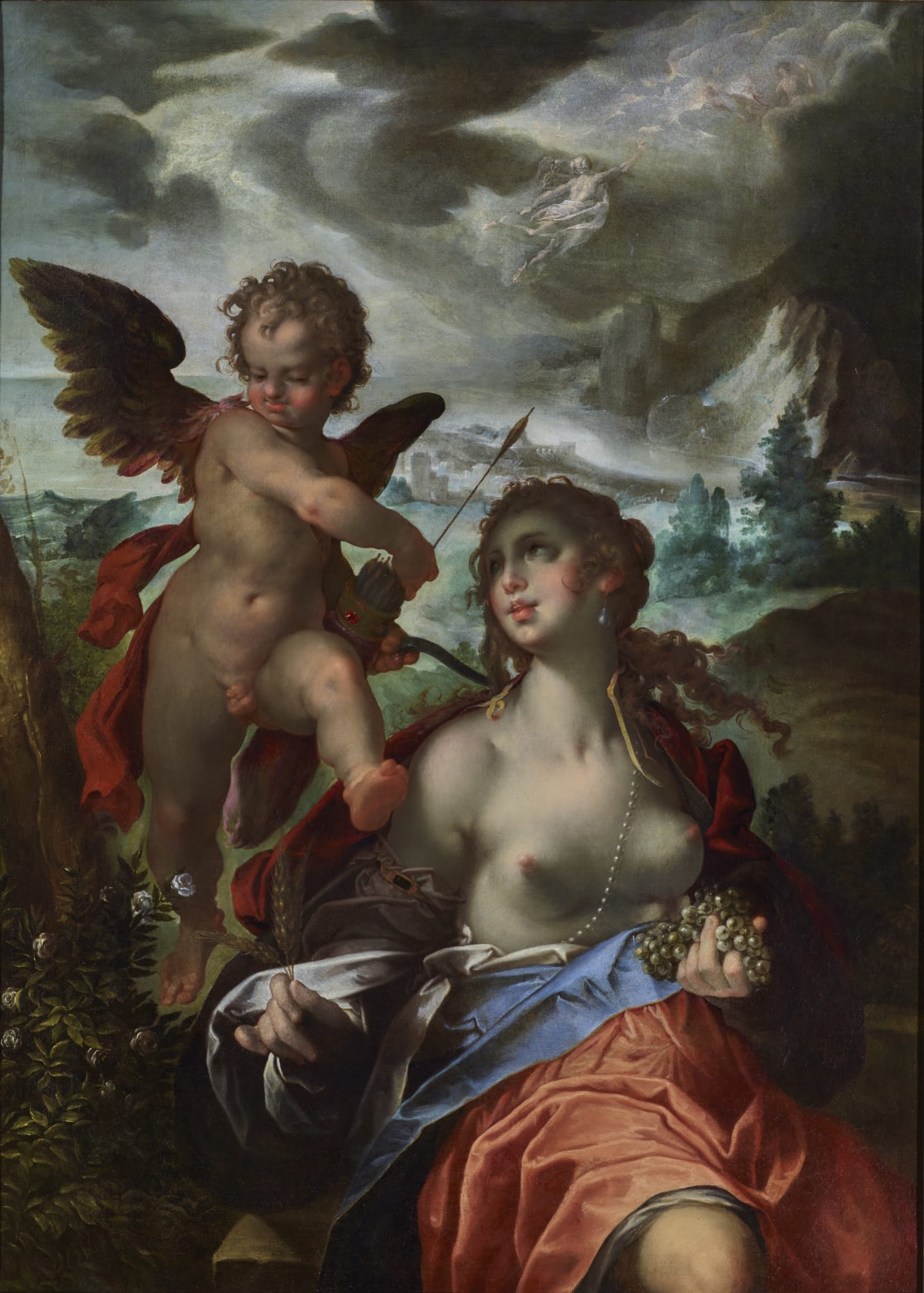 Bartholomeus Spranger (1546 – 1611) Venus and Cupid with Mercury and Psyche - an allegory, c.1600 Oil on canvas 55 1⁄8 × 40 1⁄8 in. (140 × 101.9 cm.)
