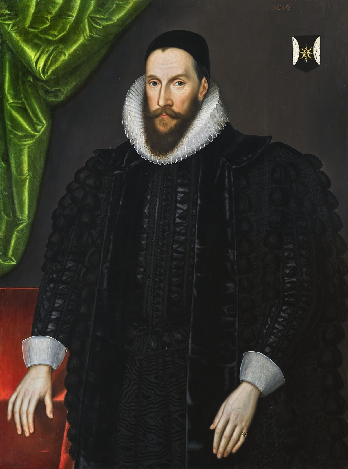 Circle of William Larkin (c. 1580 – 1619) Sir Henry Hobart, 1st Bt. (c.1554 – 1625), 1616 Oil on panel 44 ¾ x 33 ½ in. (113.7 x 85 cm.)