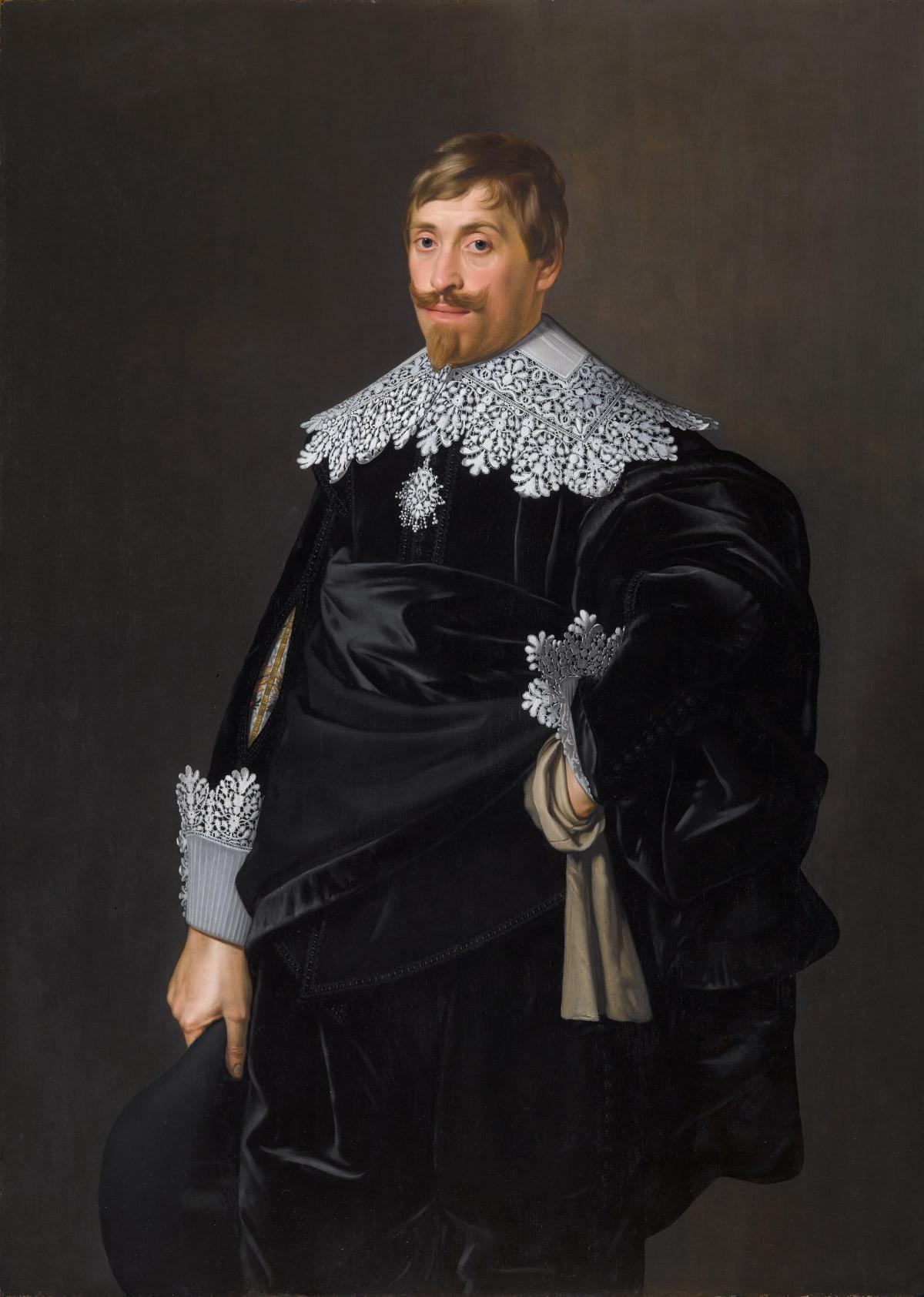 Nicolaes Eliasz Pickenoy (1588 – 1650/56) Frederik Dircksz. van Alewijn (1603 – 1665), c.1632 - 1637 Oil on panel 51 1/8 x 36 1/4 in. (129.9 x 92 cm.)