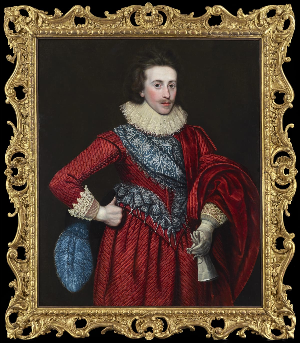 Paul van Somer (1576 - 1621) Sir Thomas Dallison, 2nd Bt. of Laughton (1591 - 1645) , c.1620 Oil on canvas 43 x 35 ¼ in. (109.2 x 90 cm.) Housed in an English 18th century carved giltwood frame