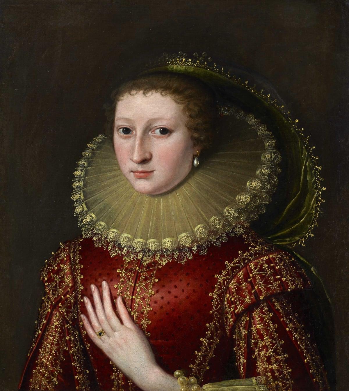 Paul van Somer (c.1577 – 1621) An Unknown Noblewoman, circa 1620 Oil on canvas 23 ½ x 21 ¼ in. (59.7 x 54 cm.)