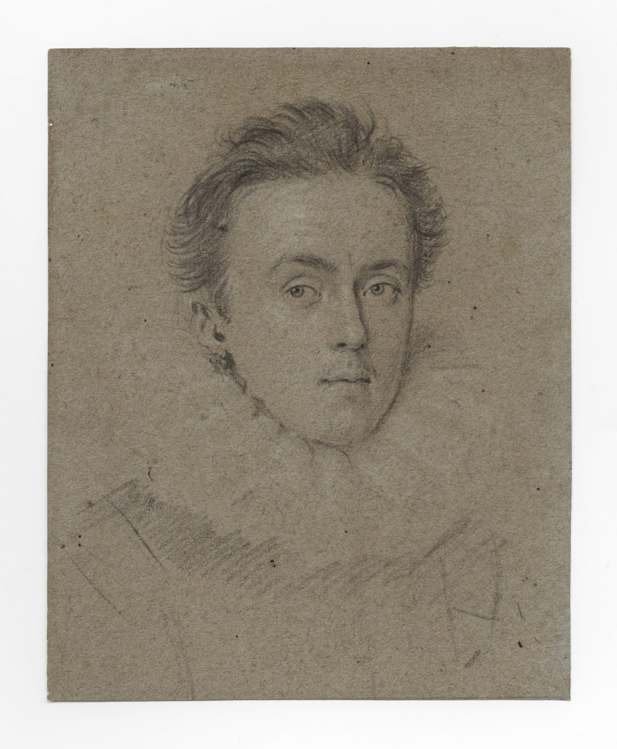 Ottavio Leoni (1578 – 1630) A young nobleman, c.1611 Pencil on paper, heightened with white chalk 6 ½ x 12 1/8 in. (16.3 x 13.2 cm.)