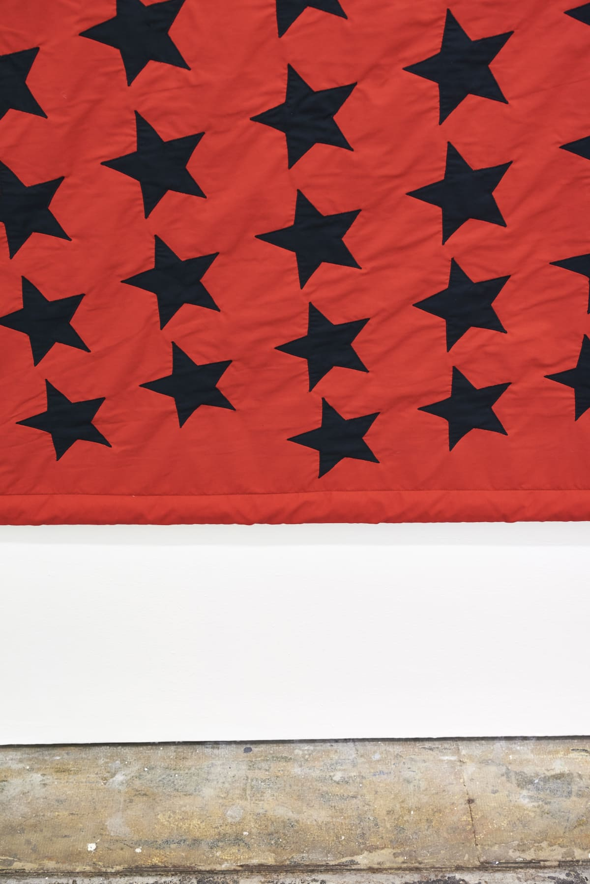 Larry Achiampong PAN AFRICAN FLAG FOR THE RELIC TRAVELLERS' ALLIANCE, 2017 Appliqué Flag (detail) 200 x 300 cm Courtesy of the artist. Commissioned by Somerset House.