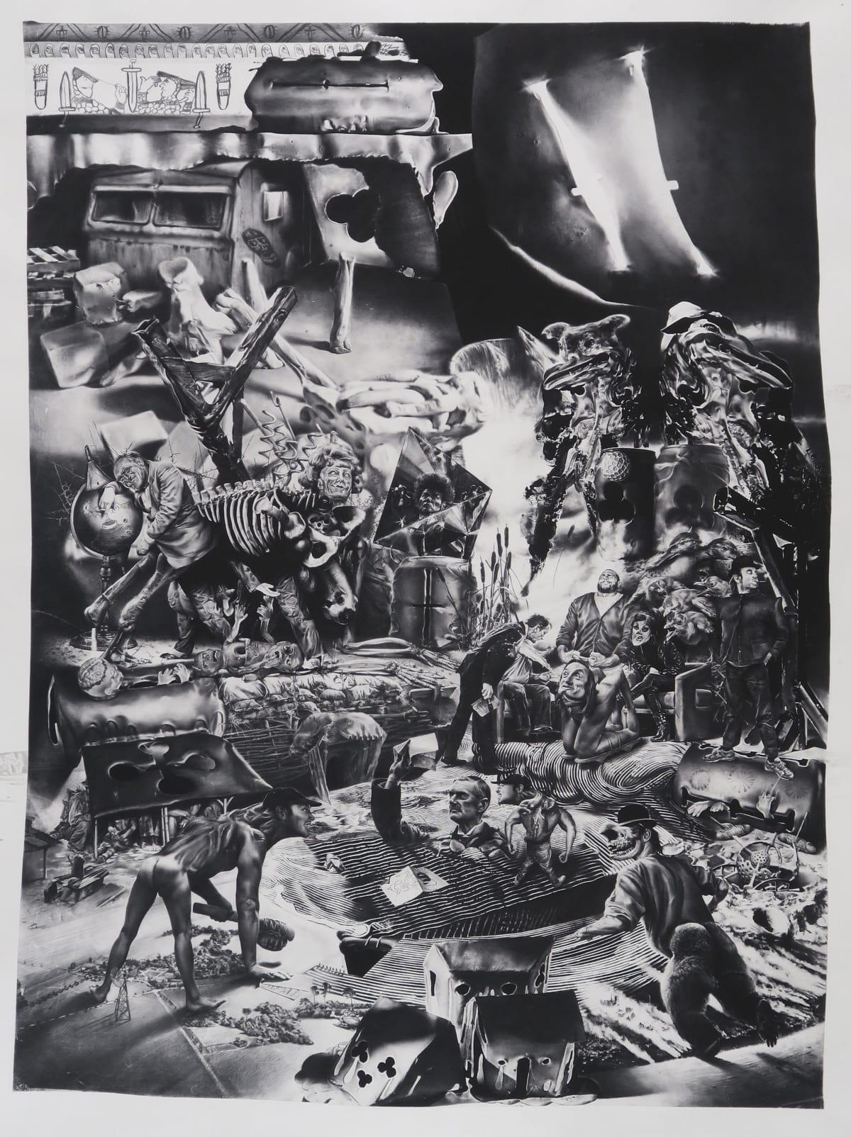 Robert McNally  Ânnus Horribilis, 2016  90.4 x 68.4 x 20 cm  35 5/8 x 26 7/8 x 7 7/8 in  Framed within a lightbox