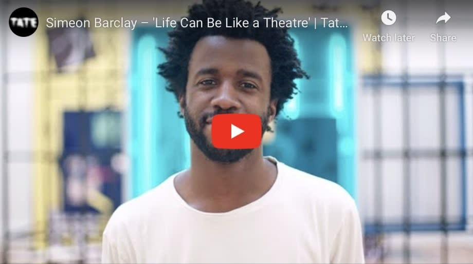 Simeon Barclay: 'Life can be like a theatre'