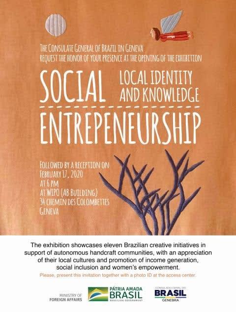 Empreendedorismo social - Identidade local e conhecimento, Hall principal da Organização Mundial de Propriedade Intelectual (WIPO)