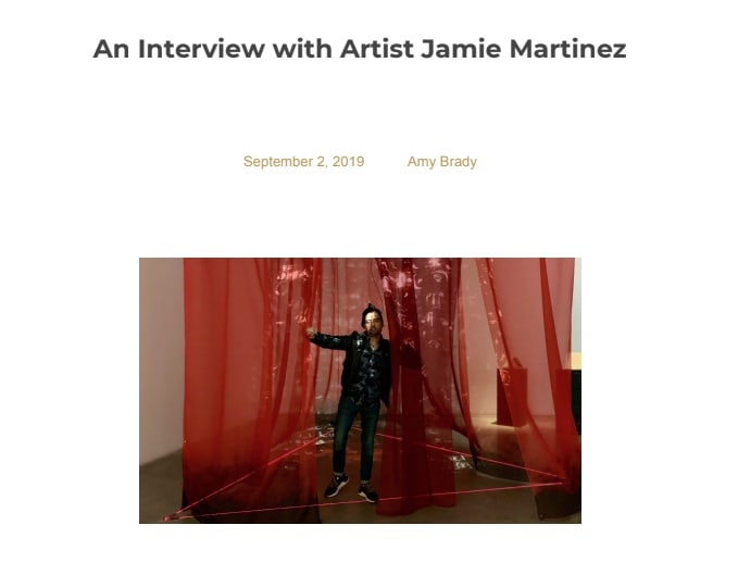 An Interview with Artist Jamie Martinez