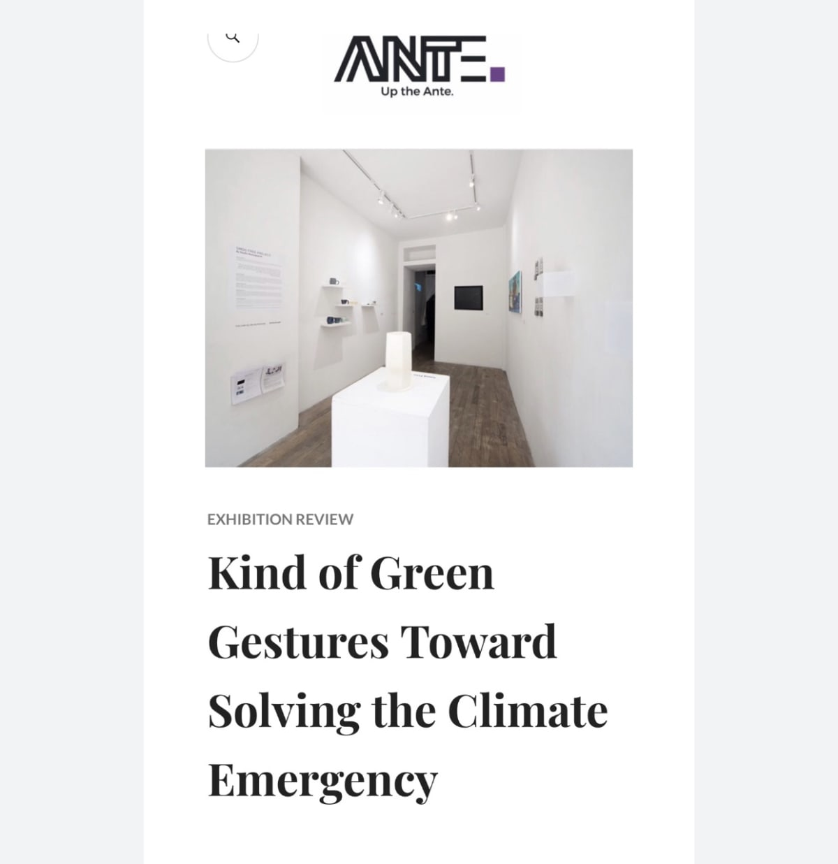 Kind of Green Gestures Toward Solving the Climate Emergency