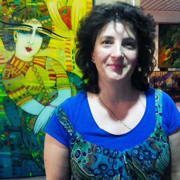 Albena Vatcheva at an exhibition