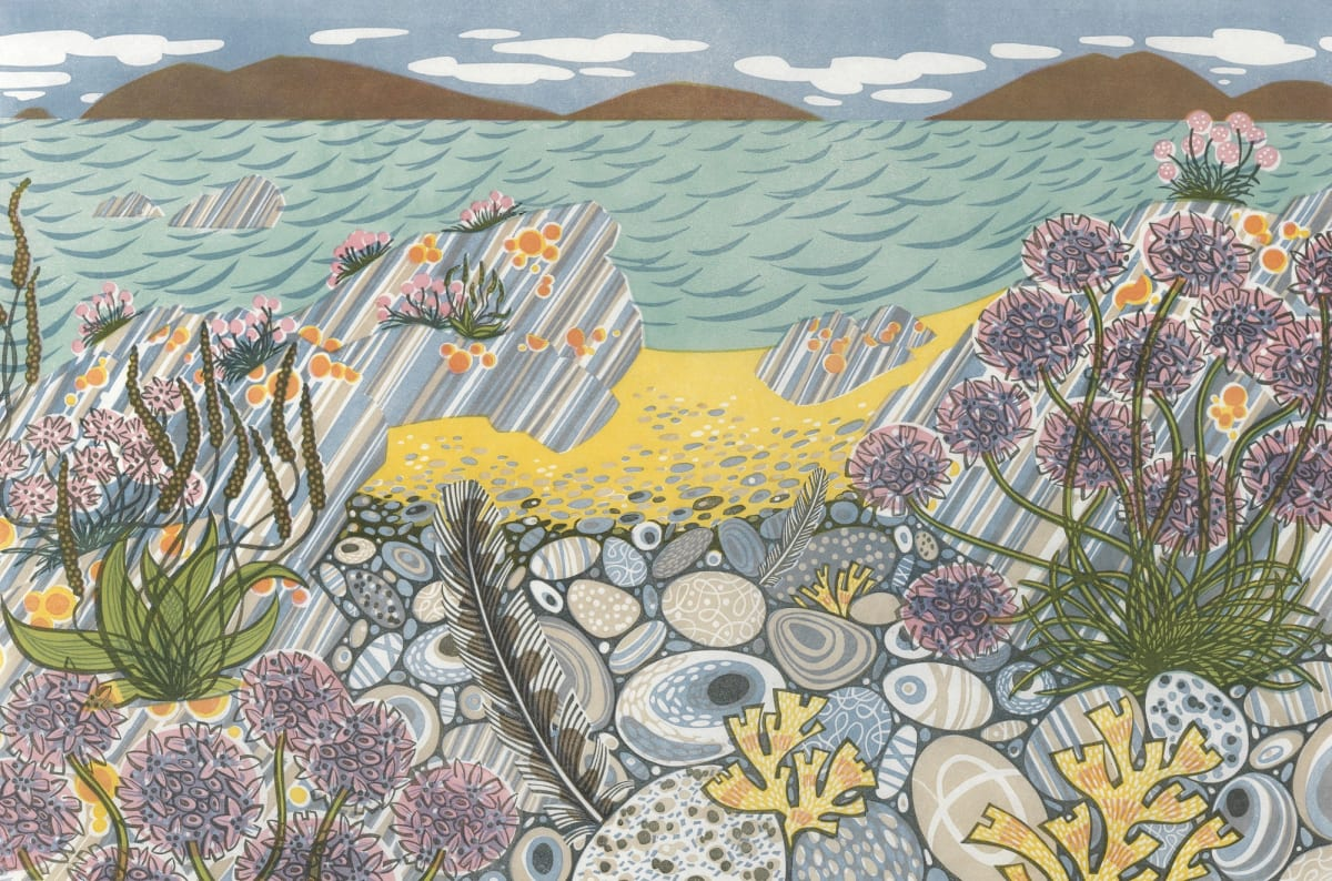 Angie Lewin | Meadow and Shore