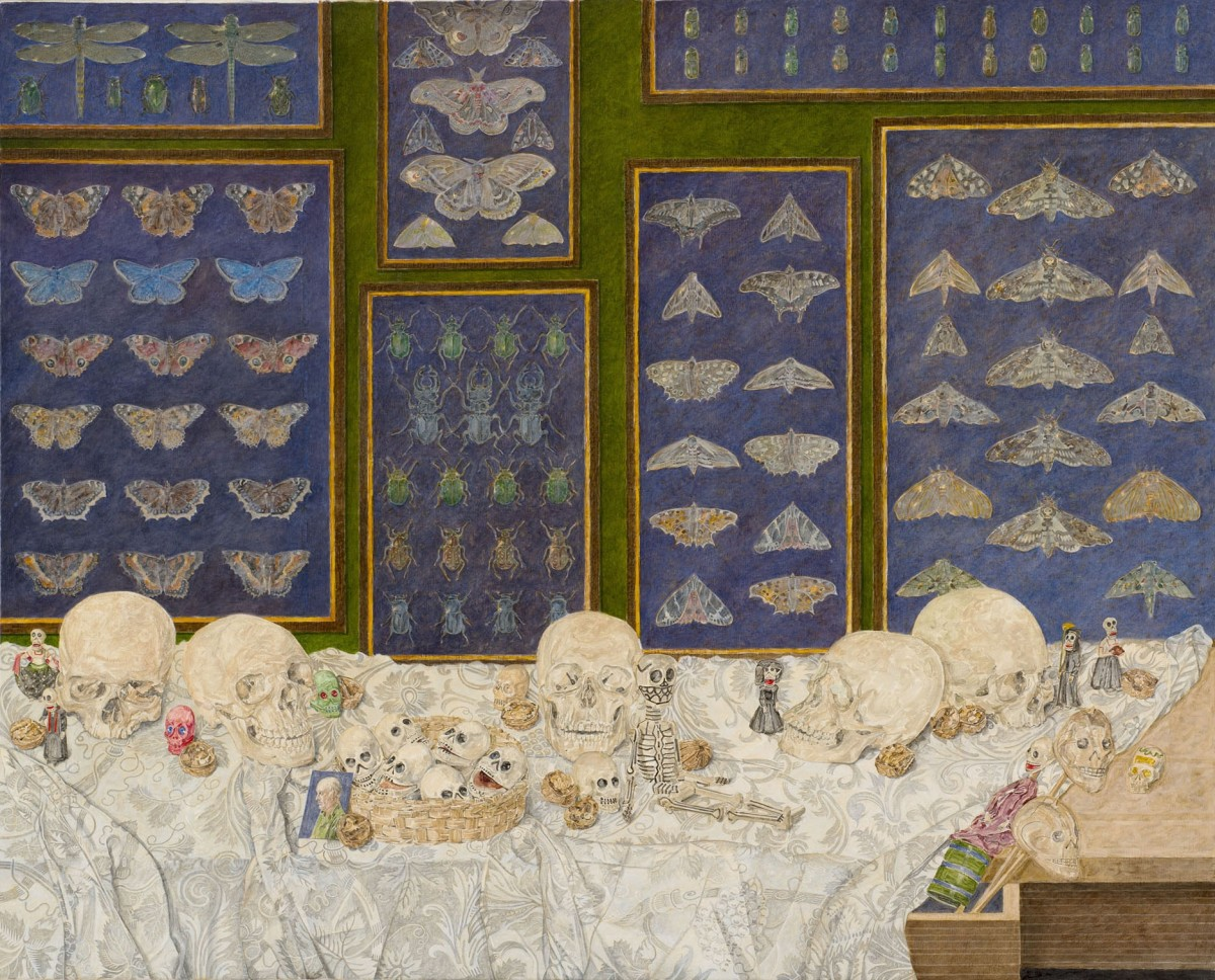 "<span class=""artist""><strong>James Reeve</strong></span>, <span class=""title""><em>Butterflies, Beetles & Skulls</em>, 2013</span>"