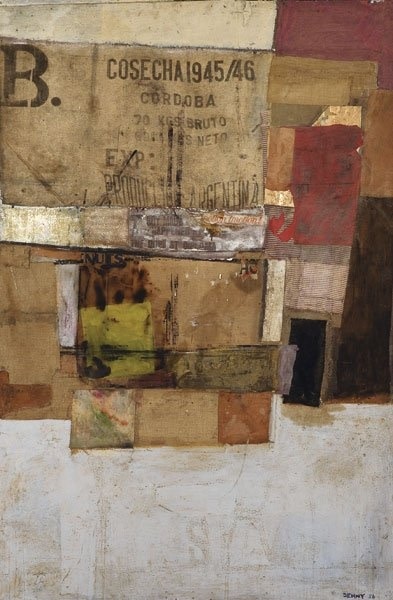 """<span class=""""artist""""><strong>Robyn Denny</strong></span>, <span class=""""title""""><em>Giant Collage - Action Traction</em>, 1956</span>"""