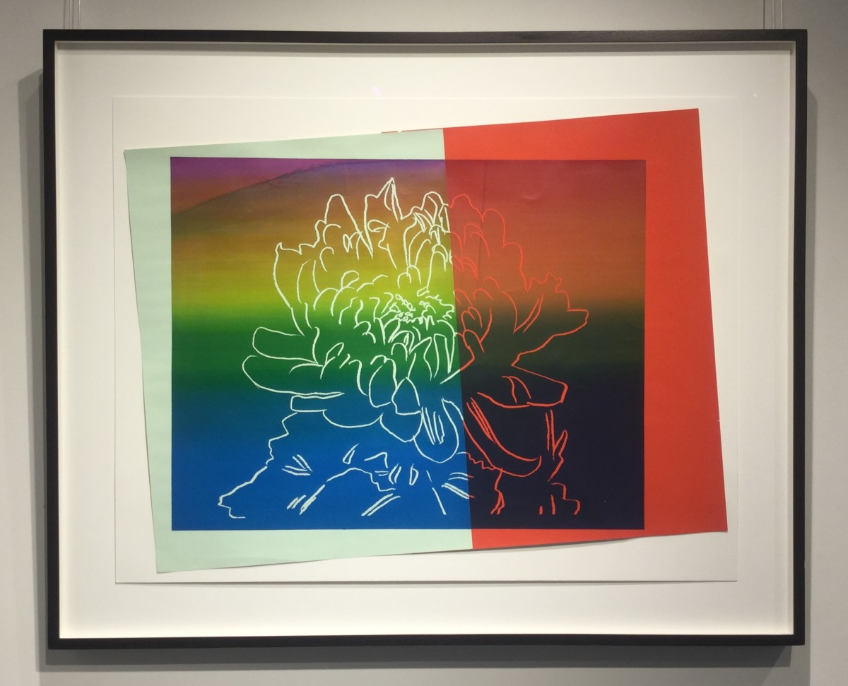 """<span class=""""link fancybox-details-link""""><a href=""""/artists/25-andy-warhol/works/829/"""">View Detail Page</a></span><div class=""""artist""""><strong>Andy Warhol</strong></div> <div class=""""title""""><em>Kiku (unique)</em>, 1983</div> <div class=""""medium"""">Silkscreen inks and collage laid on board.<br /> <br /> Stamped by the Estate of Andy Warhol and the Warhol Foundation, numbered with a uniqur reference number verso.</div> <div class=""""dimensions"""">60.3cm x 82.2cm</div>"""