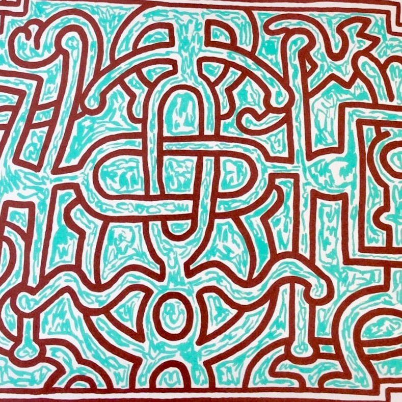 """<span class=""""link fancybox-details-link""""><a href=""""/artists/30-keith-haring/works/653/"""">View Detail Page</a></span><div class=""""artist""""><strong>Keith Haring</strong></div> <div class=""""title""""><em>Chocolat Buddah (No. 5)</em>, 1989</div> <div class=""""signed_and_dated"""">Signed and dated in pencil, bottom right</div> <div class=""""medium"""">Lithograph on paper</div> <div class=""""dimensions"""">55.9 x 70.5 cm (22 x 27 3/4 in)</div> <div class=""""edition_details"""">Numbered in pencil, bottom right</div>"""
