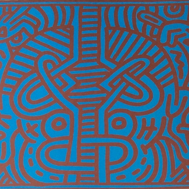 """<span class=""""link fancybox-details-link""""><a href=""""/artists/30-keith-haring/works/650/"""">View Detail Page</a></span><div class=""""artist""""><strong>Keith Haring</strong></div> <div class=""""title""""><em>Chocolat Buddah (No. 1)</em>, 1989</div> <div class=""""signed_and_dated"""">Signed and dated in pencil, bottom right</div> <div class=""""medium"""">Lithograph on paper</div> <div class=""""dimensions"""">55.9 x 70.5 cm (22 x 27 3/4 in)</div> <div class=""""edition_details"""">Numbered in pencil, bottom right</div>"""