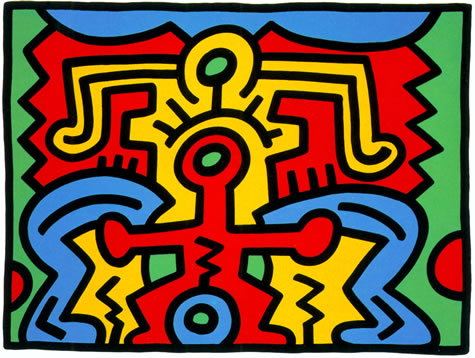 """<span class=""""link fancybox-details-link""""><a href=""""/artists/30-keith-haring/works/728/"""">View Detail Page</a></span><div class=""""artist""""><strong>Keith Haring</strong></div> <div class=""""title""""><em>Growing Suite (No. 5) *SOLD*</em>, 1988</div> <div class=""""signed_and_dated"""">Hand signed, numbered and dated lower right margin by the artist, bears the chopmarks of the publisher and the printer lower left corner, referenced as Catz 88-91, stamped verso</div> <div class=""""medium"""">Screen print on museum board </div> <div class=""""dimensions"""">76.2 x 101.6 cm (30 x 40 in)</div> <div class=""""edition_details"""">Numbered in pencil, bottom right, from the edition of 100</div>"""