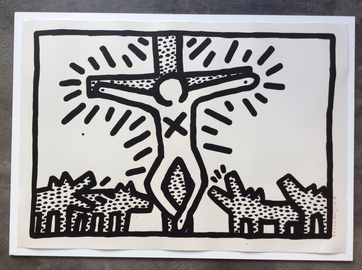 """<span class=""""link fancybox-details-link""""><a href=""""/artists/30-keith-haring/works/1006/"""">View Detail Page</a></span><div class=""""artist""""><strong>Keith Haring</strong></div> <div class=""""title""""><em>Untitled number 6, 1982 *SOLD*</em>, 1982</div> <div class=""""signed_and_dated"""">Referenced in CANTZ, page 21 (b).</div> <div class=""""medium"""">Lithograph on paper, hand signed, dated and numbered from the edition of 40.  This is an artist's proof from the edition of 8.</div> <div class=""""dimensions"""">61 x 91 cm<br /> 24 1/8 x 35 7/8 in</div>"""