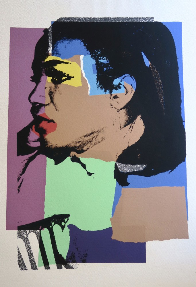 """<span class=""""link fancybox-details-link""""><a href=""""/artists/25-andy-warhol/works/980/"""">View Detail Page</a></span><div class=""""artist""""><strong>Andy Warhol</strong></div> <div class=""""title""""><em>Ladies & Gentlemen </em></div> <div class=""""signed_and_dated"""">Hand signed, numbered and dated with annotation 'AWE' for Andy Warhol Enterprises in pencil on reverse </div> <div class=""""medium"""">Screen print on paper-nice fresh colours, no cracks, no discolouring or paper damage this work is in like new condition and represents a really wonderful work for the price </div>"""