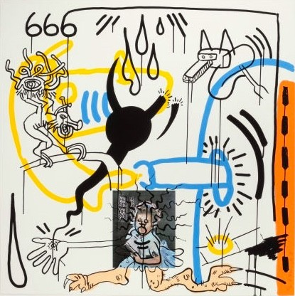 """<span class=""""link fancybox-details-link""""><a href=""""/artists/30-keith-haring/works/725/"""">View Detail Page</a></span><div class=""""artist""""><strong>Keith Haring</strong></div> <div class=""""title""""><em>Apocalypse No. 8</em>, 1988</div> <div class=""""signed_and_dated"""">Screen print on wove paper, signed, numbered and dated in pencil.<br /> <br /> Framed, on display and available to view at Joseph Fine Art, LONDON</div> <div class=""""dimensions"""">96.5 x 96.5 cm (38 x 38 in)</div> <div class=""""edition_details"""">Edition of 90</div>"""