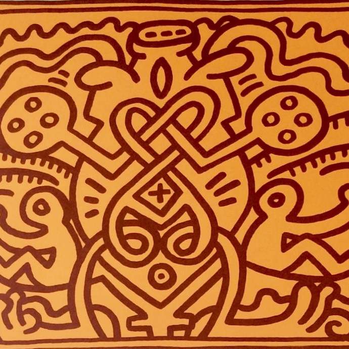 """<span class=""""link fancybox-details-link""""><a href=""""/artists/30-keith-haring/works/652/"""">View Detail Page</a></span><div class=""""artist""""><strong>Keith Haring</strong></div> <div class=""""title""""><em>Chocolat Buddah (No. 4)</em>, 1989</div> <div class=""""signed_and_dated"""">Signed and dated in pencil, bottom right</div> <div class=""""medium"""">Lithograph on paper</div> <div class=""""dimensions"""">55.9 x 70.5 cm (22 x 27 3/4 in)</div> <div class=""""edition_details"""">Numbered in pencil, bottom right</div>"""