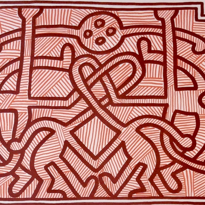 """<span class=""""link fancybox-details-link""""><a href=""""/artists/30-keith-haring/works/651/"""">View Detail Page</a></span><div class=""""artist""""><strong>Keith Haring</strong></div> <div class=""""title""""><em>Chocolat Buddah (No. 2)</em>, 1989</div> <div class=""""signed_and_dated"""">Signed and dated in pencil, bottom right</div> <div class=""""medium"""">Lithograph on paper</div> <div class=""""dimensions"""">55.9 x 70.5 cm (22 x 27 3/4 in)</div> <div class=""""edition_details"""">Numbered in pencil, bottom right</div>"""