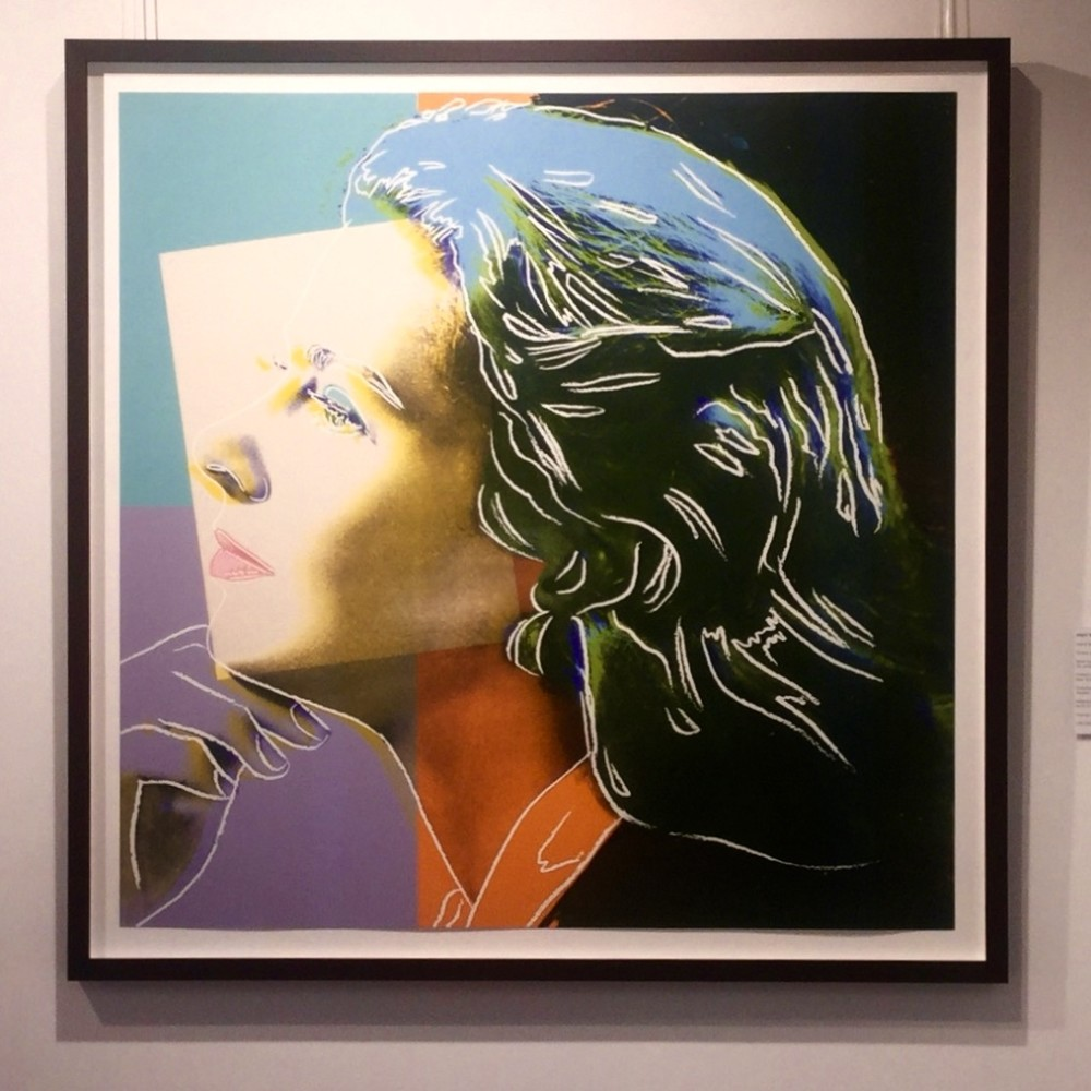 """<span class=""""link fancybox-details-link""""><a href=""""/artists/25-andy-warhol/works/722/"""">View Detail Page</a></span><div class=""""artist""""><strong>Andy Warhol</strong></div> <div class=""""title""""><em>Ingrid Bergman (Herself) *SOLD*</em>, 1983</div> <div class=""""medium"""">From the portfolio of three screen prints on Lenox Museum Board, hand signed and numbered by the artist  in pencil lower right</div> <div class=""""dimensions"""">96.5 x 96.5 cm (38 x 38 in)<br /> Warhol Cat. Res: (F&S. II.313)</div> <div class=""""edition_details"""">Edition of 250</div>"""