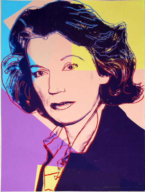 """<span class=""""link fancybox-details-link""""><a href=""""/artists/25-andy-warhol/works/870/"""">View Detail Page</a></span><div class=""""artist""""><strong>Andy Warhol</strong></div> <div class=""""title""""><em>Mildred Scheel  *SOLD*</em>, 1980</div> <div class=""""signed_and_dated"""">Hand signed and numbered in pencil lower right from the edition of 1000 - diamond dust in intact and the work is in perfect condition in a bespoke gold leaf frame </div> <div class=""""medium"""">Screen print with diamond dust on Arches 88 paper, <br /> Printed by Rupert Jason Smith, New York<br /> This edition was created to raise funds for the German Cancer Society-each work is signed on the back by Mildred Scheel, president of the Society<br /> </div> <div class=""""dimensions"""">77.5 x 54.6 cm<br /> 30 1/2 x 21 1/2 in</div>"""