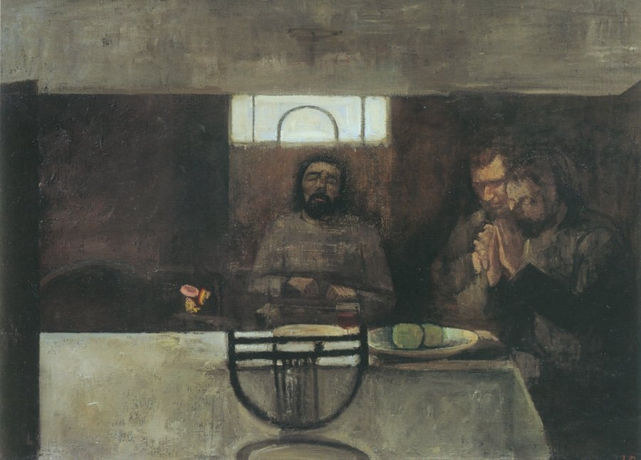 "<span class=""title"">Supper at Emmaeus<span class=""title_comma"">, </span></span><span class=""year"">1942-46</span>"