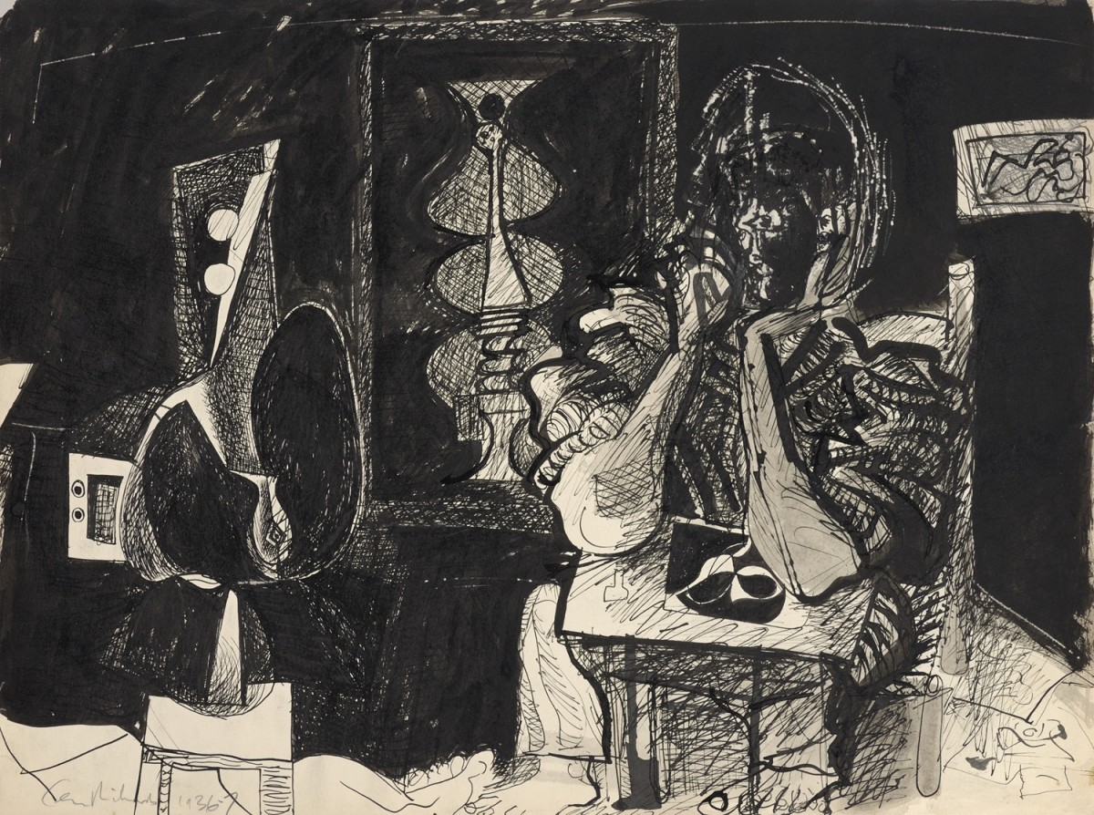 "<span class=""title"">The Artist in his Studio<span class=""title_comma"">, </span></span><span class=""year"">1936/7</span>"