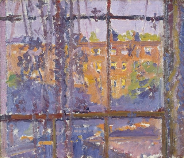 <span class=&#34;title&#34;>Hampstead Road through a Window</span>