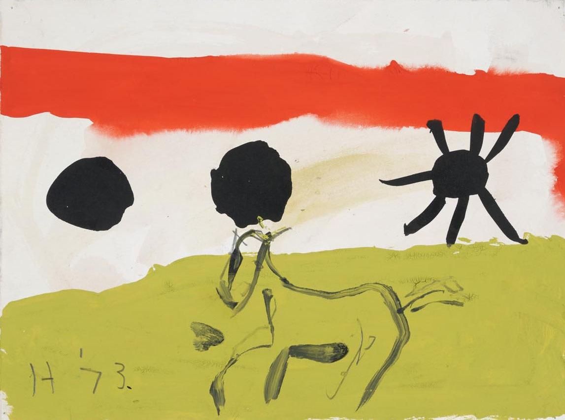<span class=&#34;title&#34;>Horse in Landscape<span class=&#34;title_comma&#34;>, </span></span><span class=&#34;year&#34;>1973</span>