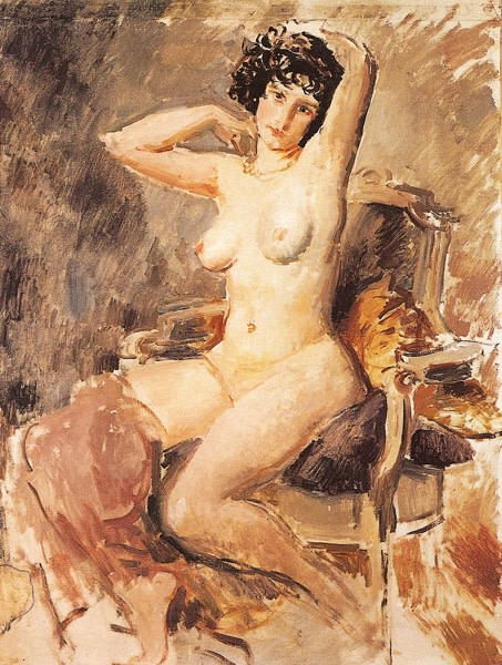 "<span class=""title"">Seated Nude<span class=""title_comma"">, </span></span><span class=""year"">c.1925</span>"