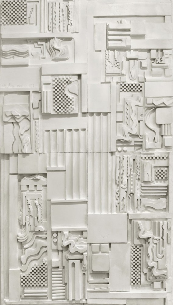 <span class=&#34;title&#34;>White Plaster Relief<span class=&#34;title_comma&#34;>, </span></span><span class=&#34;year&#34;>1975</span>