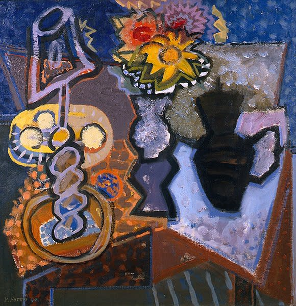"<span class=""title"">Still Life, Lamp. Dahlias and Sunflower<span class=""title_comma"">, </span></span><span class=""year"">1948</span>"