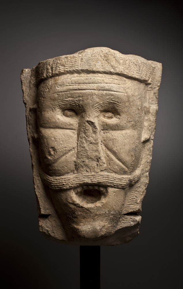 "<span class=""title"">Large Stone Head <span class=""title_comma"">, </span></span><span class=""year"">Anglo Saxon or Norman 11th Century</span>"