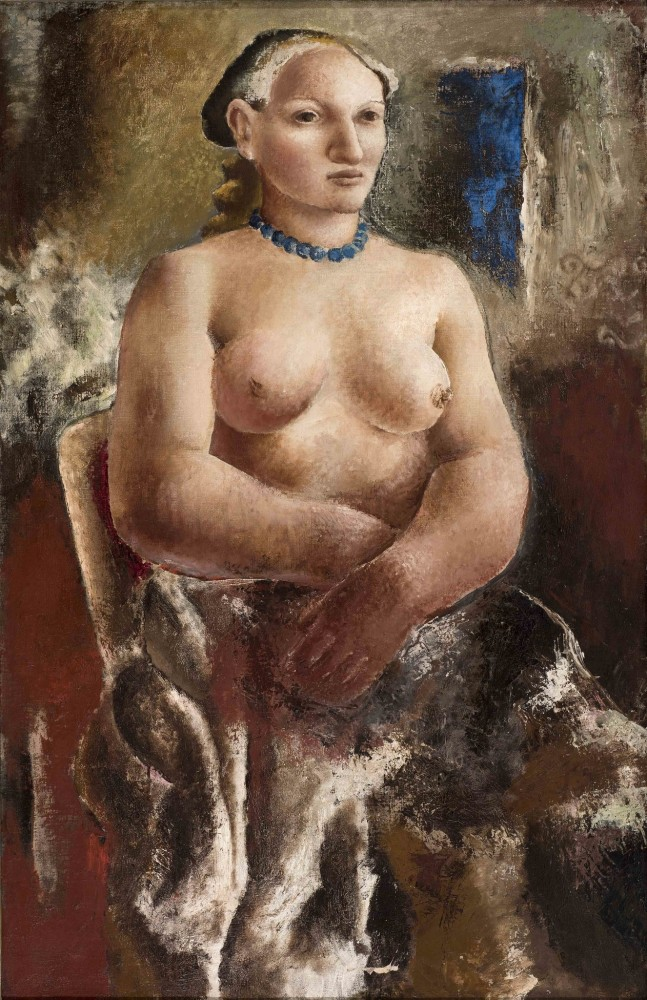 "<span class=""title"">The Blue Necklace (Portrait of Frosca Munster)<span class=""title_comma"">, </span></span><span class=""year"">1928</span>"