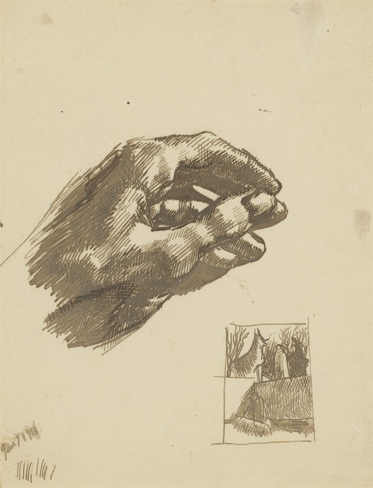 "<span class=""title"">The Artist's Left Hand<span class=""title_comma"">, </span></span><span class=""year"">1913</span>"