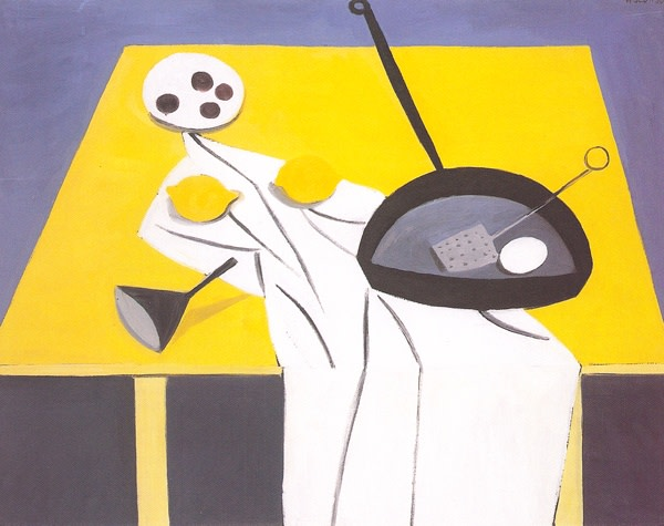 "<span class=""title"">Frying Pan, Funnel, Eggs & Lemons<span class=""title_comma"">, </span></span><span class=""year"">1950</span>"