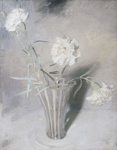 <span class=&#34;title&#34;>White Carnations<span class=&#34;title_comma&#34;>, </span></span><span class=&#34;year&#34;>c.1924</span>