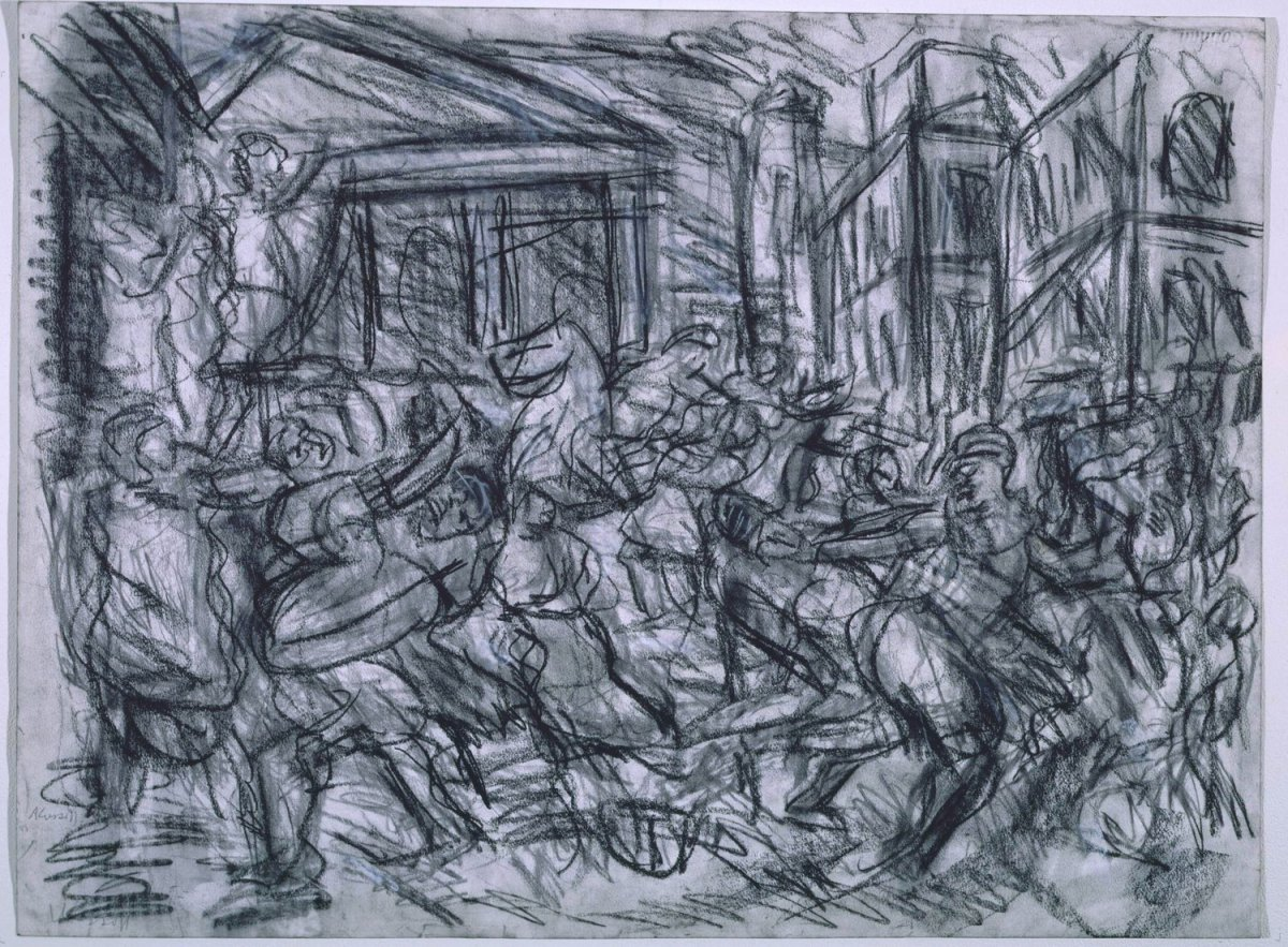 Leon Kossoff London Gallery Drawings Paintings