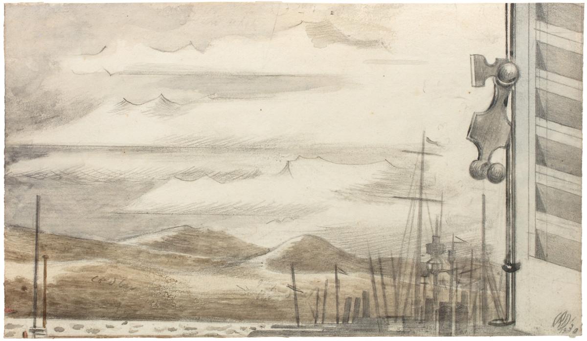 Paul Nash, The Fleet at Toulon No. 1, 1930